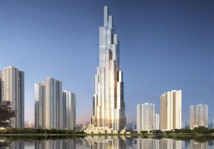 Kiến trúc tòanhà lấy cảm hứng từ hình ảnh bó tre truyền thống